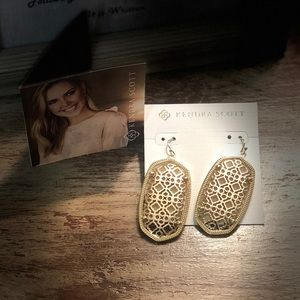 Kendra Scott Danielle Gold Filigree Earrings BNIB